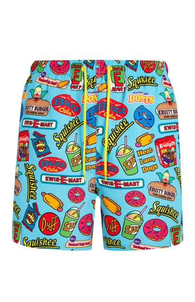 The Simpsons Blue Swim Shorts