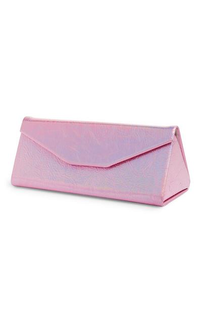 Pink Holographic Fold Glasses Case