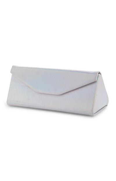 Silver Holographic Sunglasses Case