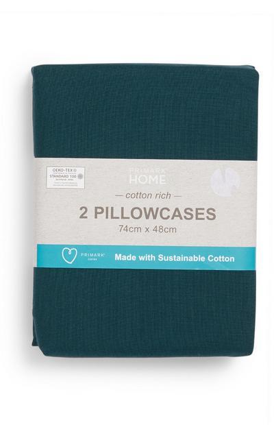 Teal Cotton Rich Pillowcases
