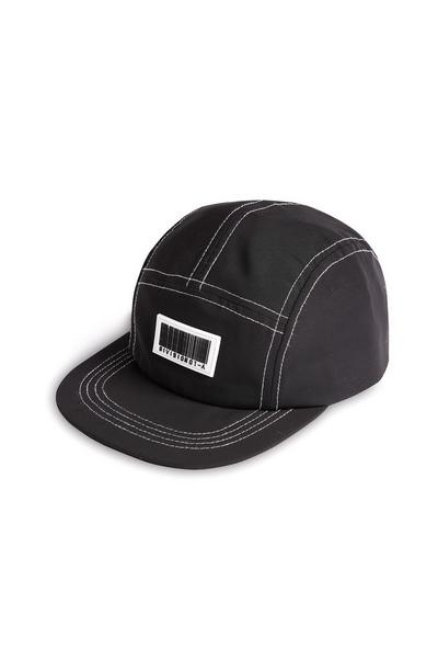 Black Barcode Five Panel Baseball Cap