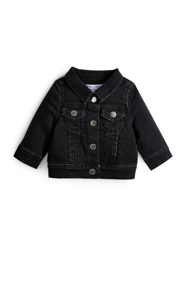 Schwarze Jeansjacke für Babys (M)