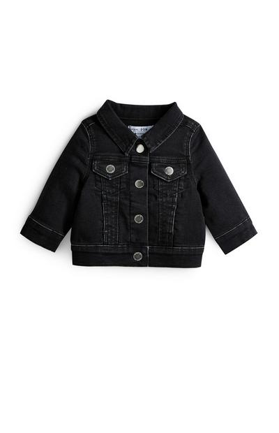 Baby Girl Black Denim Jacket