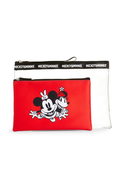 Clear Red Minnie Mouse Bag With Pouch