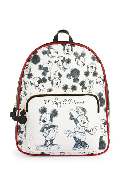 Black And White Mickey And Minnie Backpack