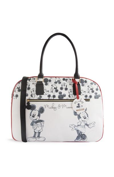 Black And White Mickey And Minnie Mouse Weekend Bag