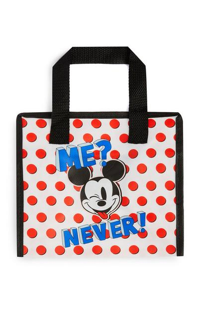 White And Red Polka Dot Mickey Mouse Lunch Bag