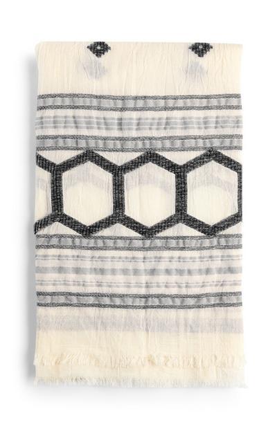 Lenço tecido cinzento