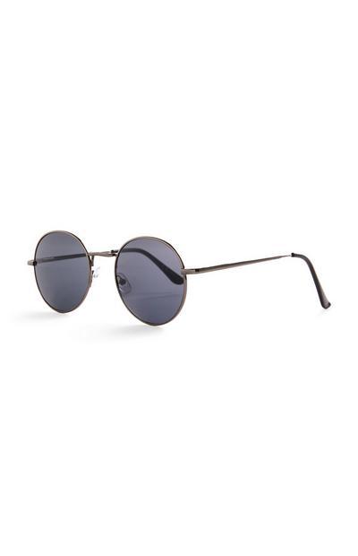 Óculos de sol redondos básicos matizados preto