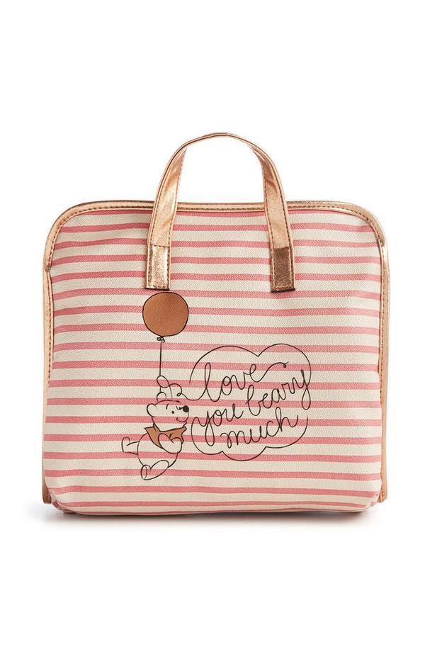 Roze gestreepte tas Winnie de Poeh