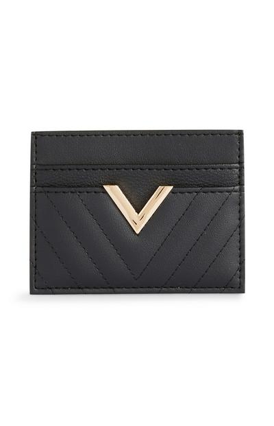 Black Gold V Card Holder