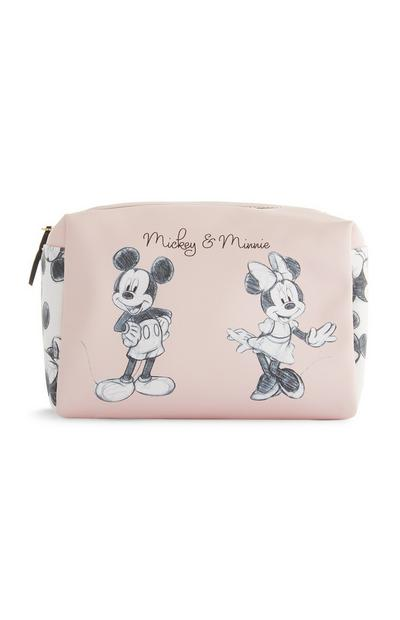 Trousse de maquillage rose Mickey et Minnie