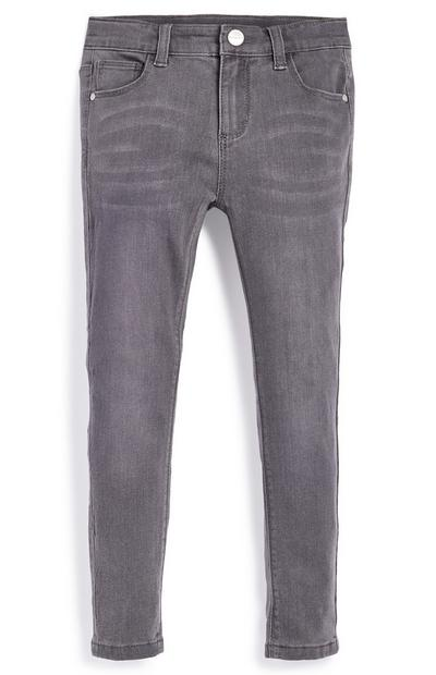 Younger Girl Gray Stretch Skinny Jeans