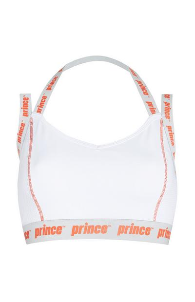 Bela kratka majica z logotipom Prince