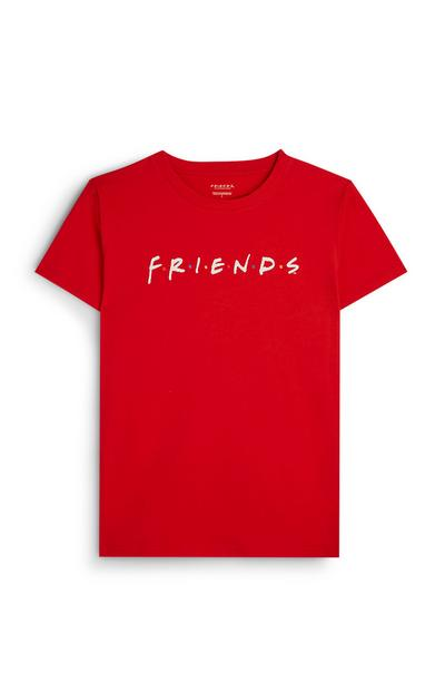 Camiseta roja con el logo de Friends