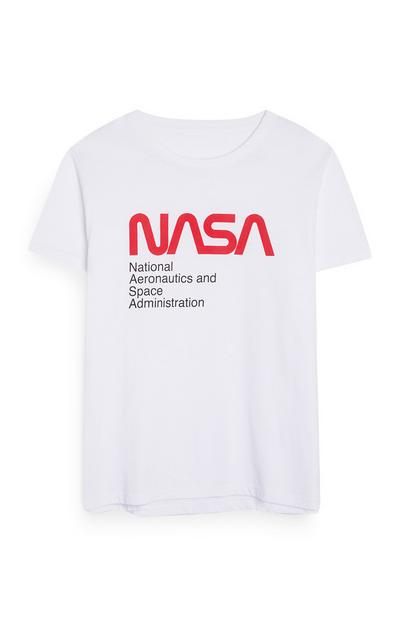 White NASA Logo T-Shirt