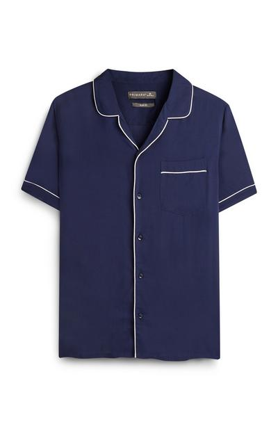 Kem Cetinay Navy White Piped Shirt