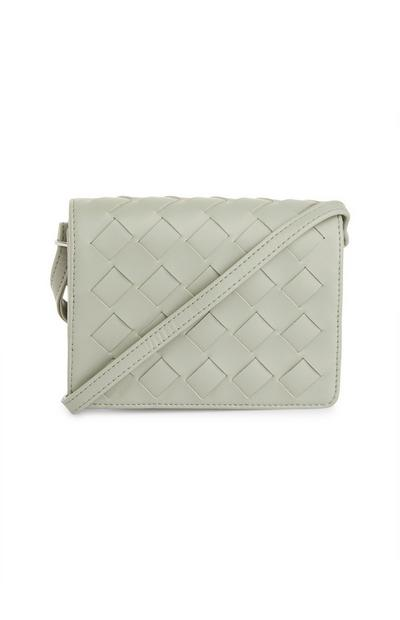 White Weave Mini Crossbody Bag