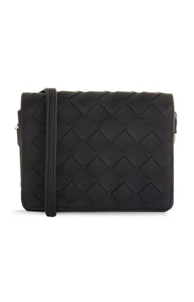 Black Quilted Small Crossbody Bag