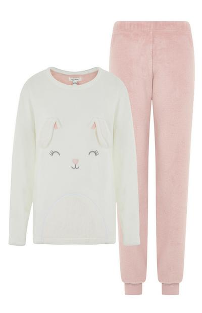 Pink Rabbit Pyjama Set
