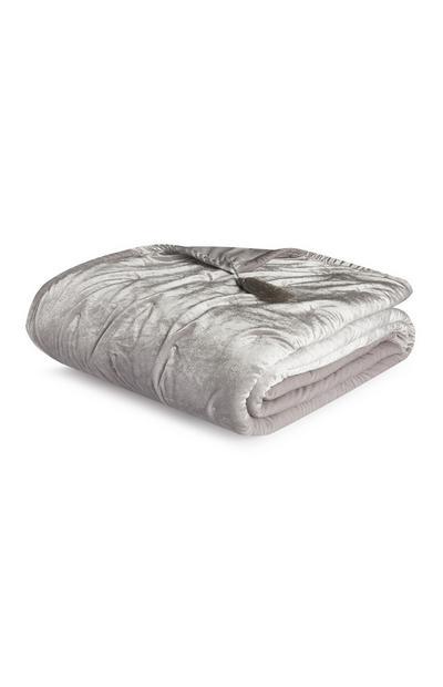 Caminho cama veludo e pelúcia cinzento