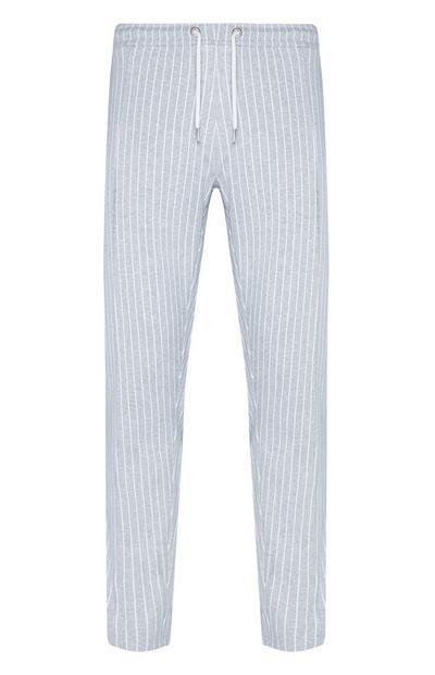 Pantalón de chándal gris a rayas finas Kem Cetinay
