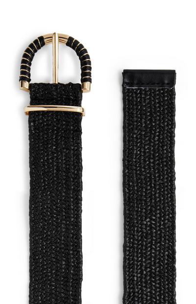 Thin Black Sparkle Belt