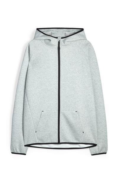 Grey Sports Hoodie