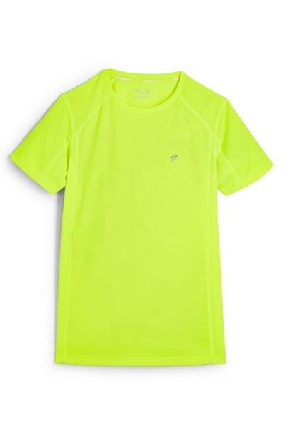 Older Boy Neon Lime Crew Neck T-Shirt