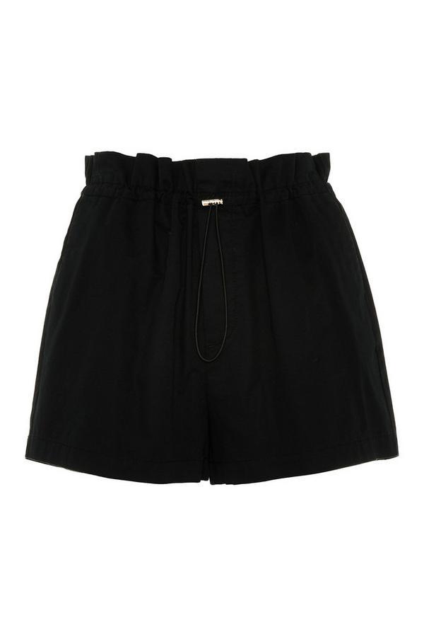 Short noir avec cordon de serrage
