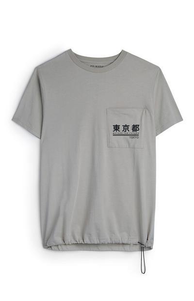 T-shirt cordões Tokyo bege
