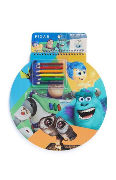 """Pixar"" Skizzenblock mit Stiften"