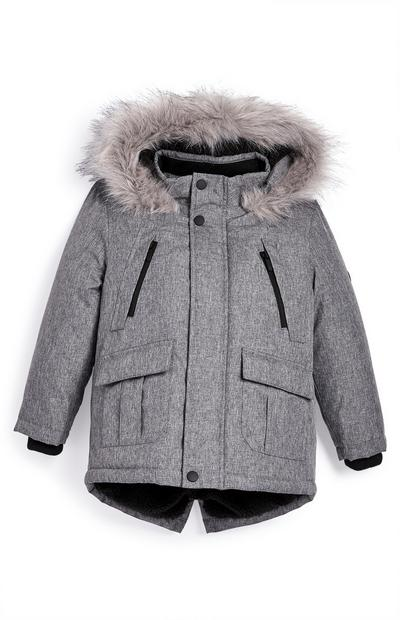 Younger Boy Gray Parka