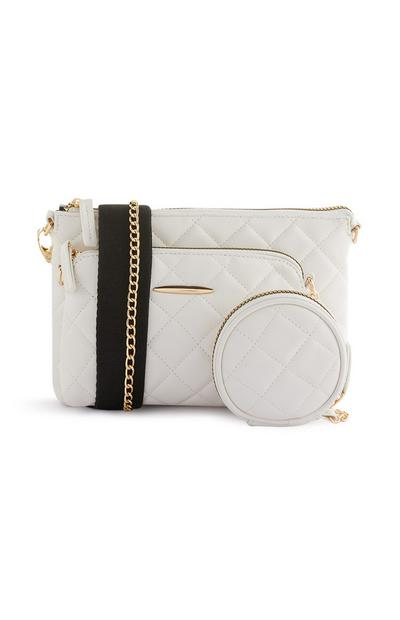 White 3-in-1 Crossbody Bag