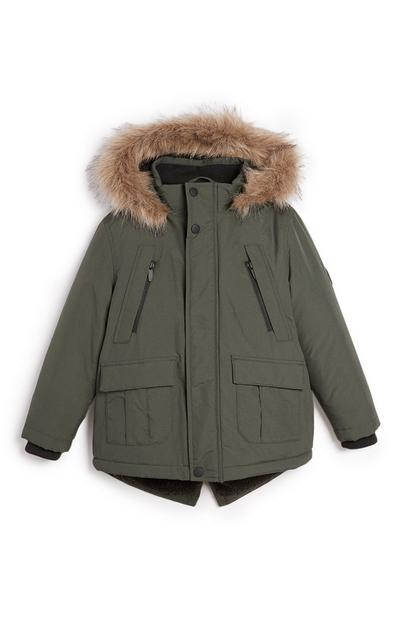 Younger Boy Olive Parka