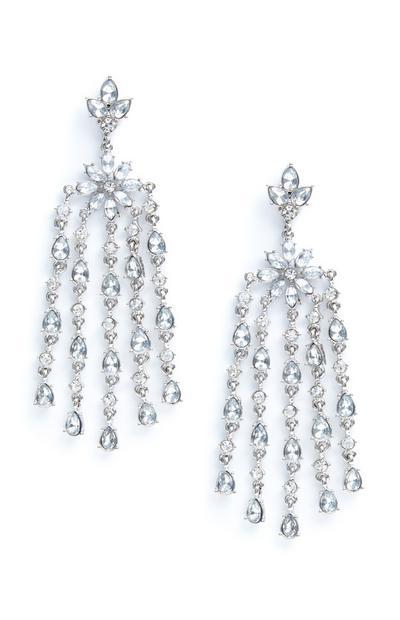 Diamante Chandelier Drop Earrings