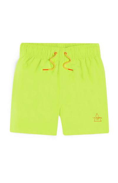 Younger Boy Neon Yellow Swim shorts