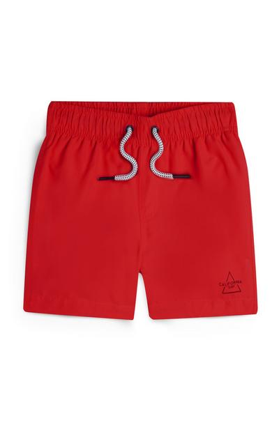 Younger Boy Red Swim Shorts