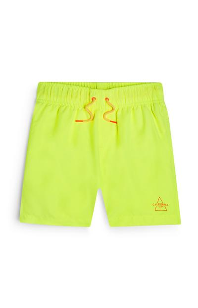 Older Boy Neon Yellow Swim Shorts