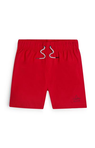 Older Boy Red Swim Shorts