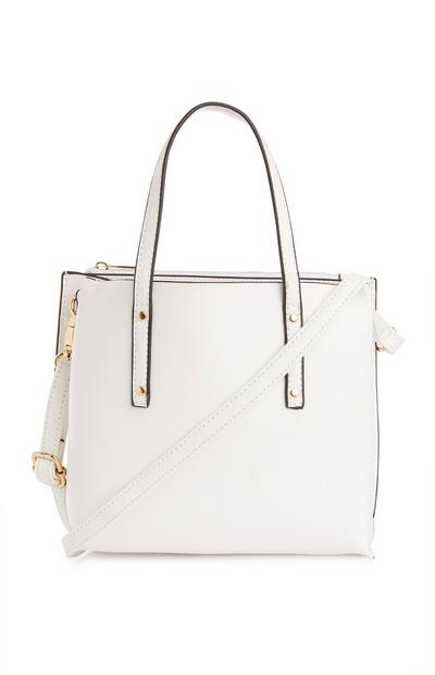 Soft White Mini Tote