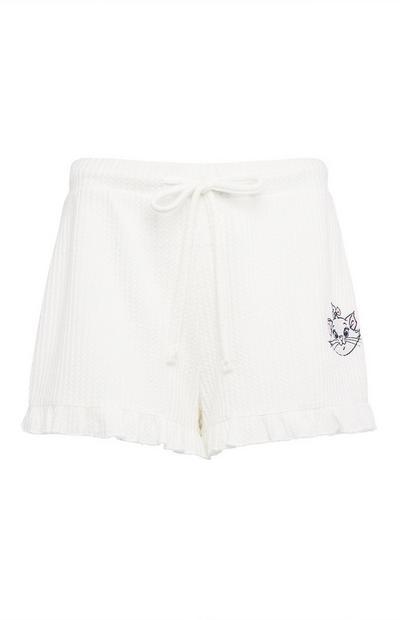 White Aristocats Marie Waffle Shorts