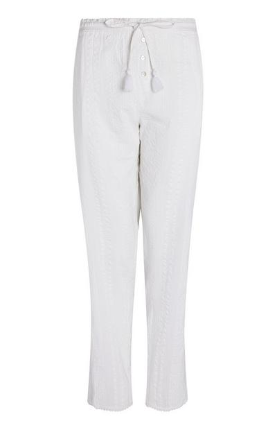 White Seersucker Pants