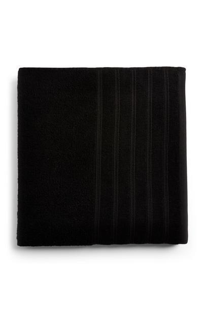 Schwarzes hochwertiges XL-Badehandtuch