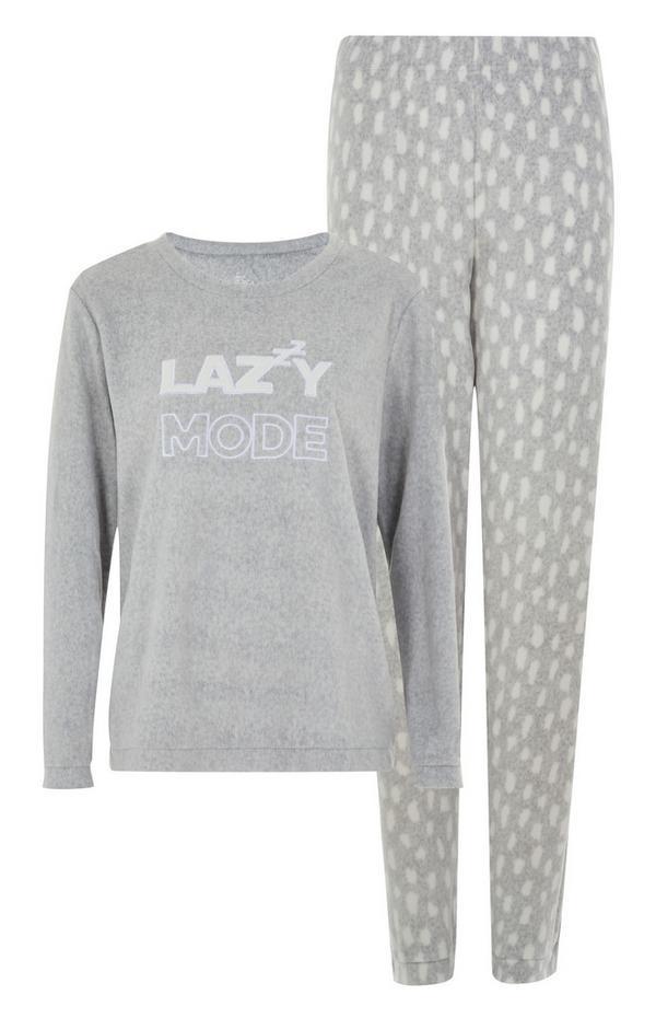 """""""Lazy Mode"""" Pyjama in Grau"""