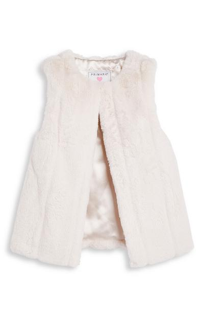 Younger Girl Faux Fur Gilet