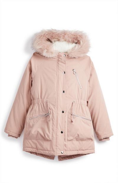 Older Girl Blush Pink Padded Parka Coat