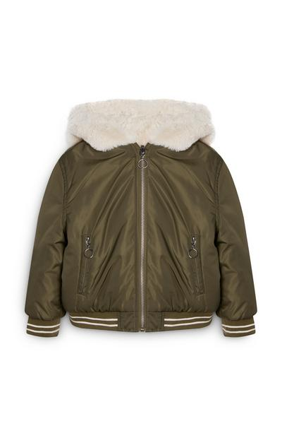 Younger Girl Reversible Bomber Jacket