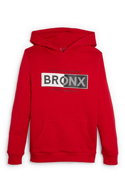 Older Boy Red Bronx Hoodie