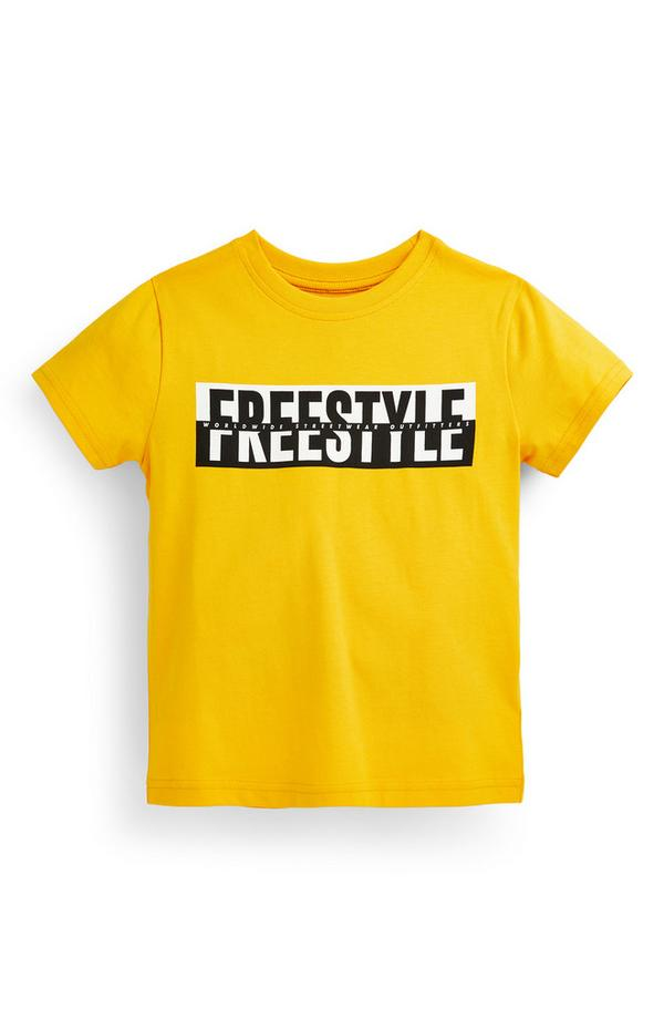 Younger Boy Yellow Freestyle T-Shirt